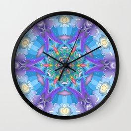 Mermaid mandala Wall Clock