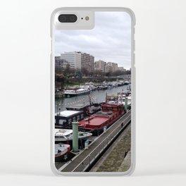 Architecture boats Paris Clear iPhone Case