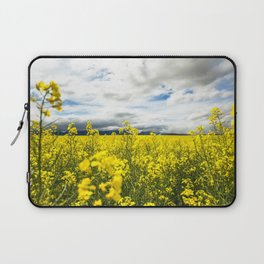 Fields of yellow - Floral Photography #Society6 Laptop Sleeve