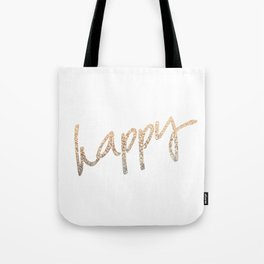 GOLD HAPPY Tote Bag