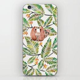 Happy Sloth – Tropical Green Rainforest iPhone Skin