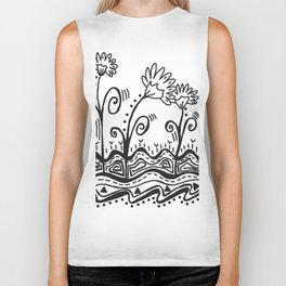 Three Spring Flowers Biker Tank