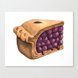 Blueberry Pie Slice Canvas Print