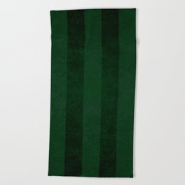 Emerald Stripes Beach Towel