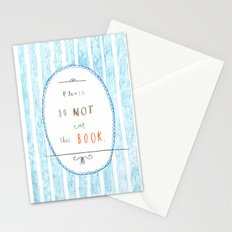 Please Don't Eat This Book Stationery Cards