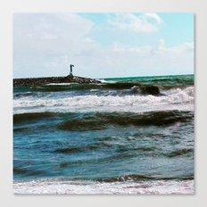Sea Barcelona Canvas Print