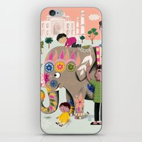 india iPhone & iPod Skins featuring India by ilana exelby