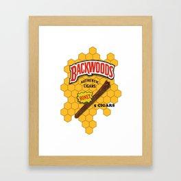Backwoods logo Framed Art Print