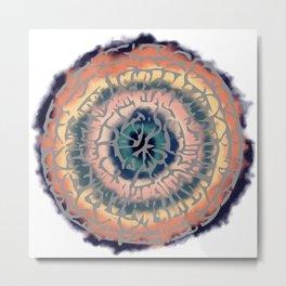 Tribal Mandala Metal Print