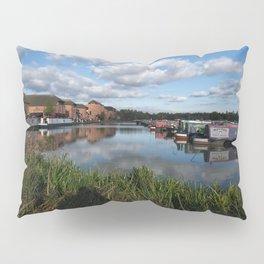 Barton Marina Narrow Boats Pillow Sham
