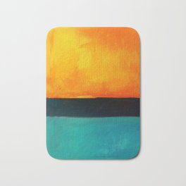 Mark Rothko Interpretation Orange Blue Bath Mat