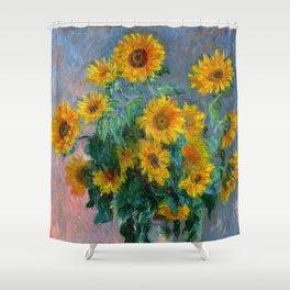 Bouquet of Sunflowers - Claude Monet Shower Curtain