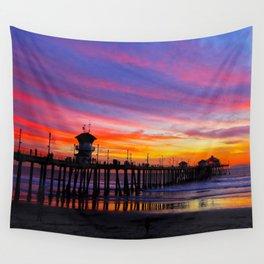 Huntington Beach Sunset   ~  12/15/13  Wall Tapestry