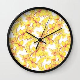 The Monoi Flower Wall Clock