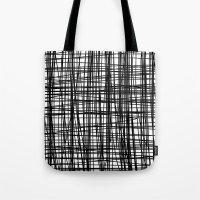 striped Tote Bags featuring striped by nionio.design