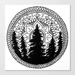 Pine Forest Mandala Canvas Print