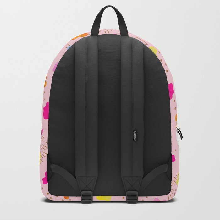 Watercolor abstract drops Backpack