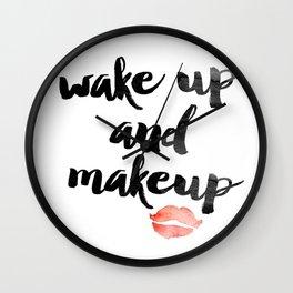 Wake Up and Makeup Wall Clock
