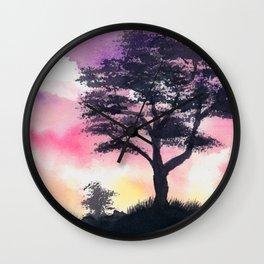 Safari Sunset Wall Clock