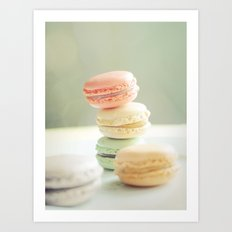Pretty Macarons Art Print