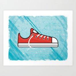 Red Chucks Art Print
