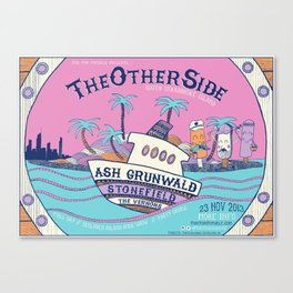The Other Side Festival Poster - 2013 (South Stradbroke Island, Australia) Canvas Print