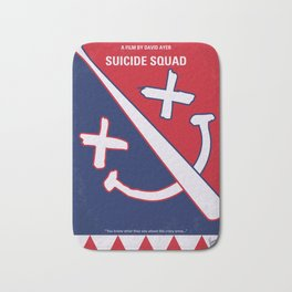 No680 My Suic Squ minimal movie poster Bath Mat