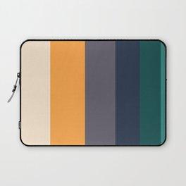 Mid Century Modern Minimalist Color Block Pattern Yellow Grey Green Laptop Sleeve