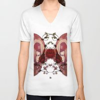 in the flesh V-neck T-shirts featuring Flesh&Roses by AP Illustration