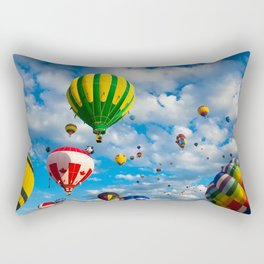Vibrant Hot Air Balloons Rectangular Pillow
