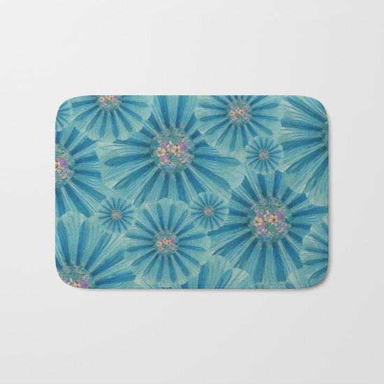 Fractal Flower Pattern Bath Mat