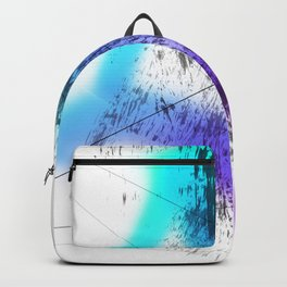 Future Grunge Electric Aqua to Dark Violet Abstraction Backpack