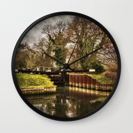 Sulhamstead Lock on the Kennet and Avon Wall Clock