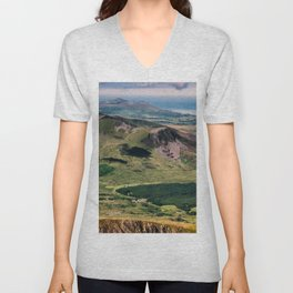 Snowdon Moutain View Unisex V-Neck