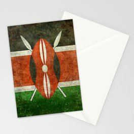 National flag of Kenya -Vintage version, to scale Stationery Cards