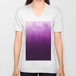 Purple Watercolor On Cotton Unisex V-Neck