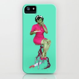 He's Got An Arm Off - Zombie Pin-Up iPhone Case