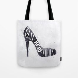 High hill shoes watrcolor Tote Bag