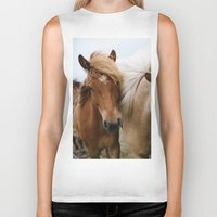 iceland Biker Tanks featuring Iceland Horses by LUKE/MALLORY