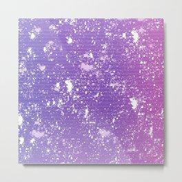 Pink Purple Stripe Metal Print