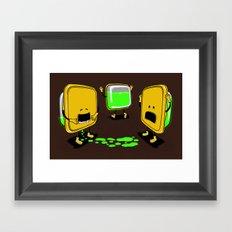 Radioactive Tupper Framed Art Print