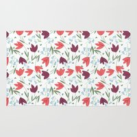tulip Area & Throw Rugs featuring Tulip  by Totten-Design