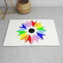 optical pattern 69 multicolor flower Rug