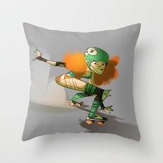 Roller Derby! Throw Pillow