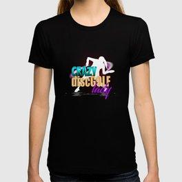 Crazy Disc Golf Lady Funny T-shirt
