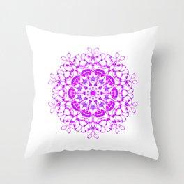 Heart Mandala - Love is all around Throw Pillow
