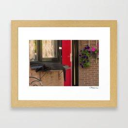 Le Chaton et La Porte Rouge Framed Art Print