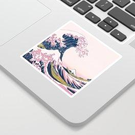 The Great Pink Wave off Kanagawa Sticker