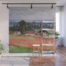 Poppy Field at Giverny by Claude Monet Wall Mural
