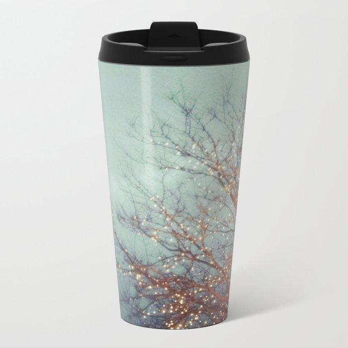 December Lights Metal Travel Mug